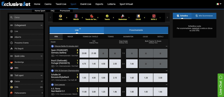 ExclusiveBet betting