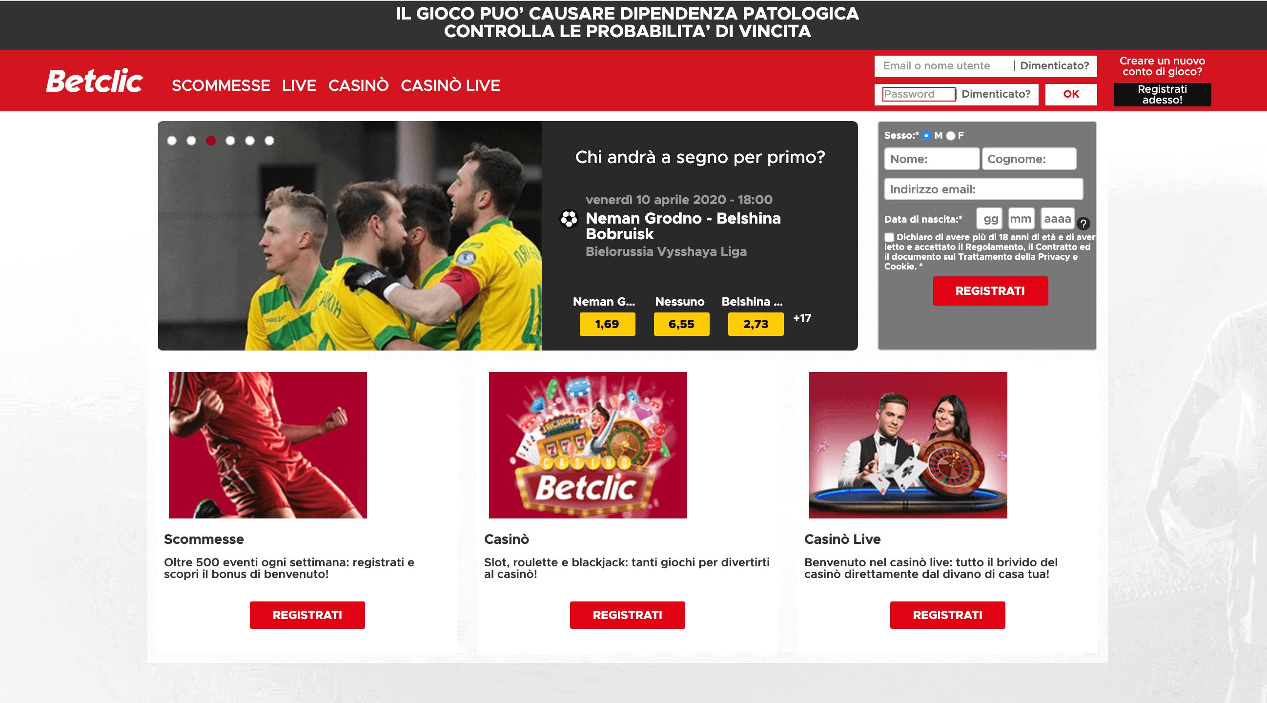 betclic homepage