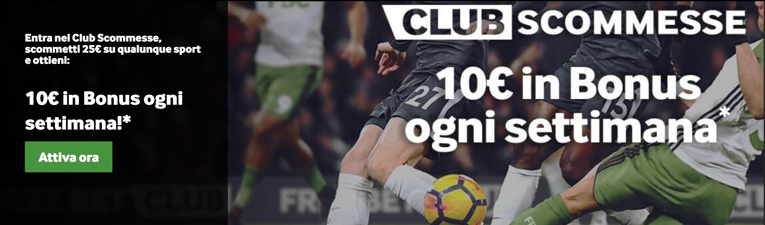 Betway Club Scommesse Promo