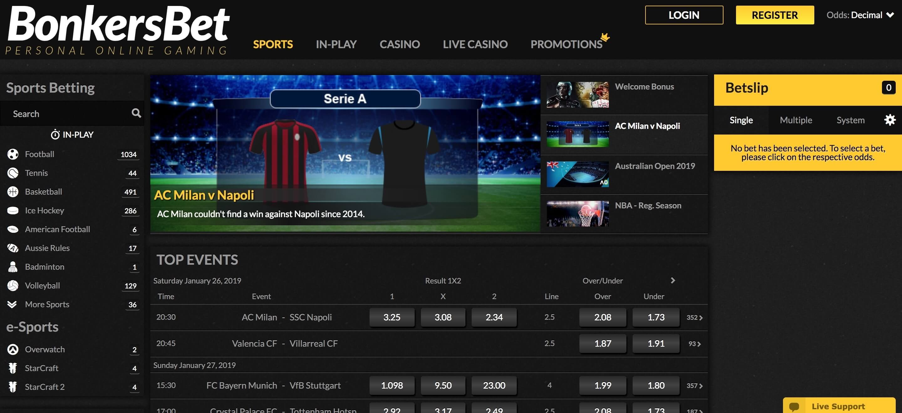BonkersBet Screenshot
