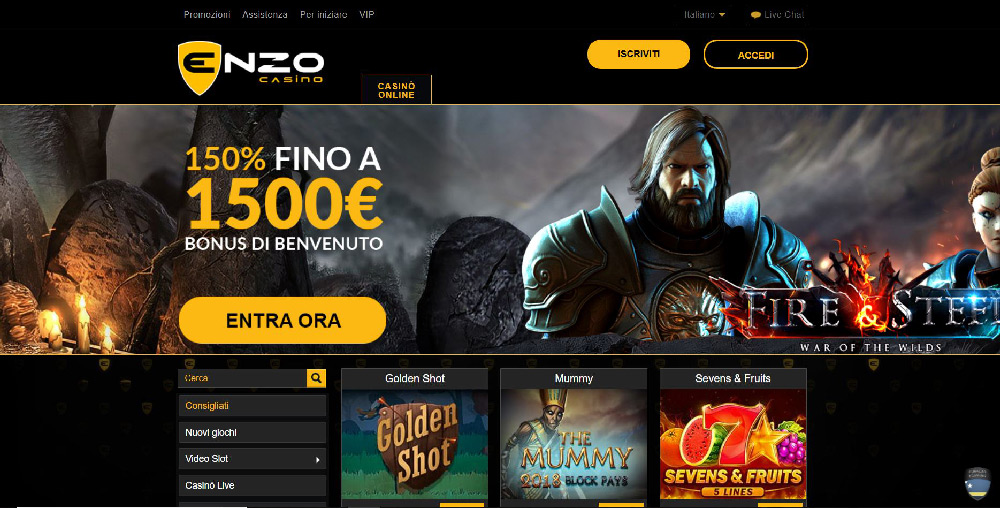 EnzoCasino Screenshot