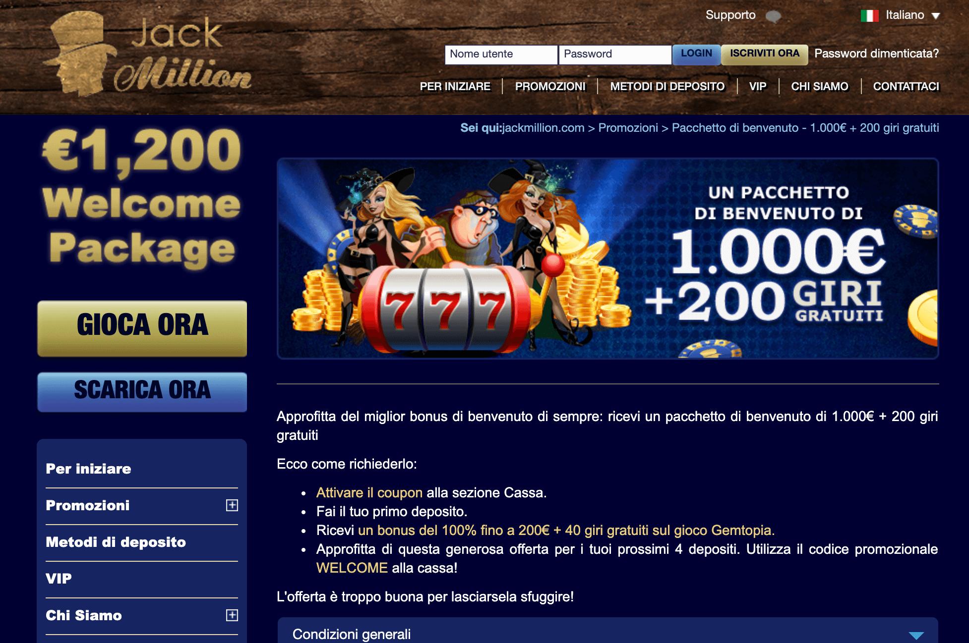 JackMillion Screenshot