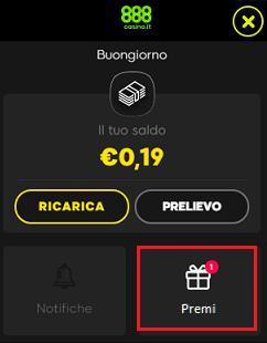 888casino.it rewards icona