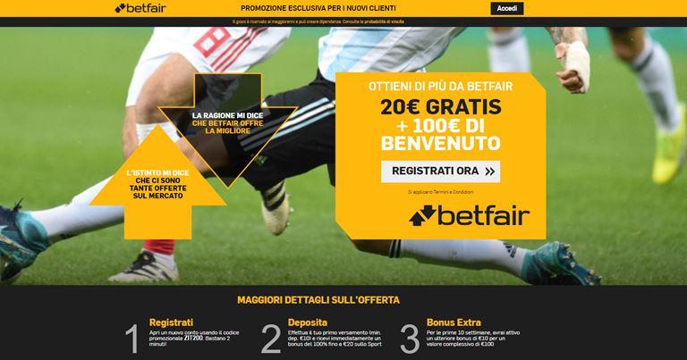Betfair Bonus Sport ZIT200
