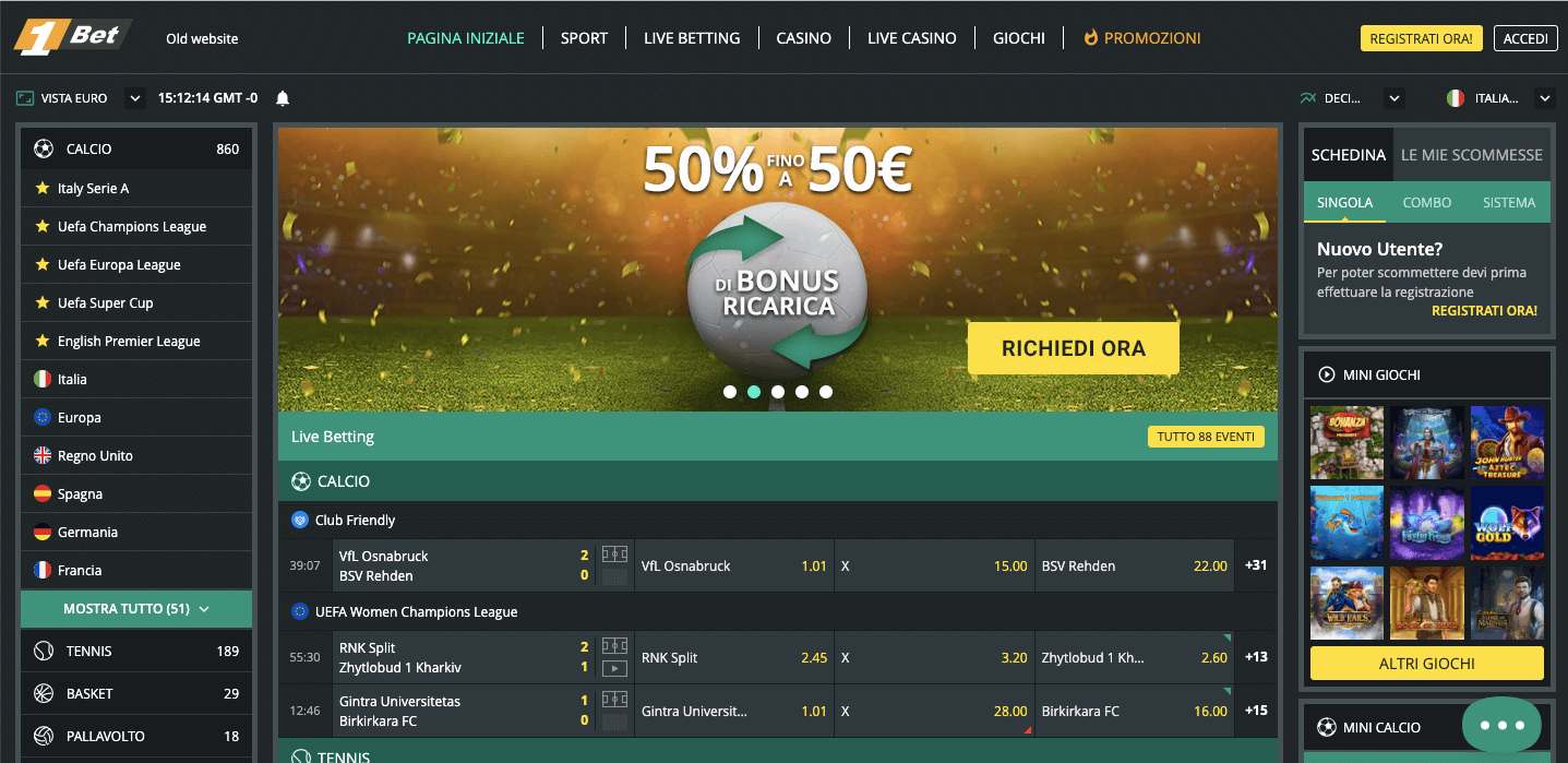 1Bet Screenshot