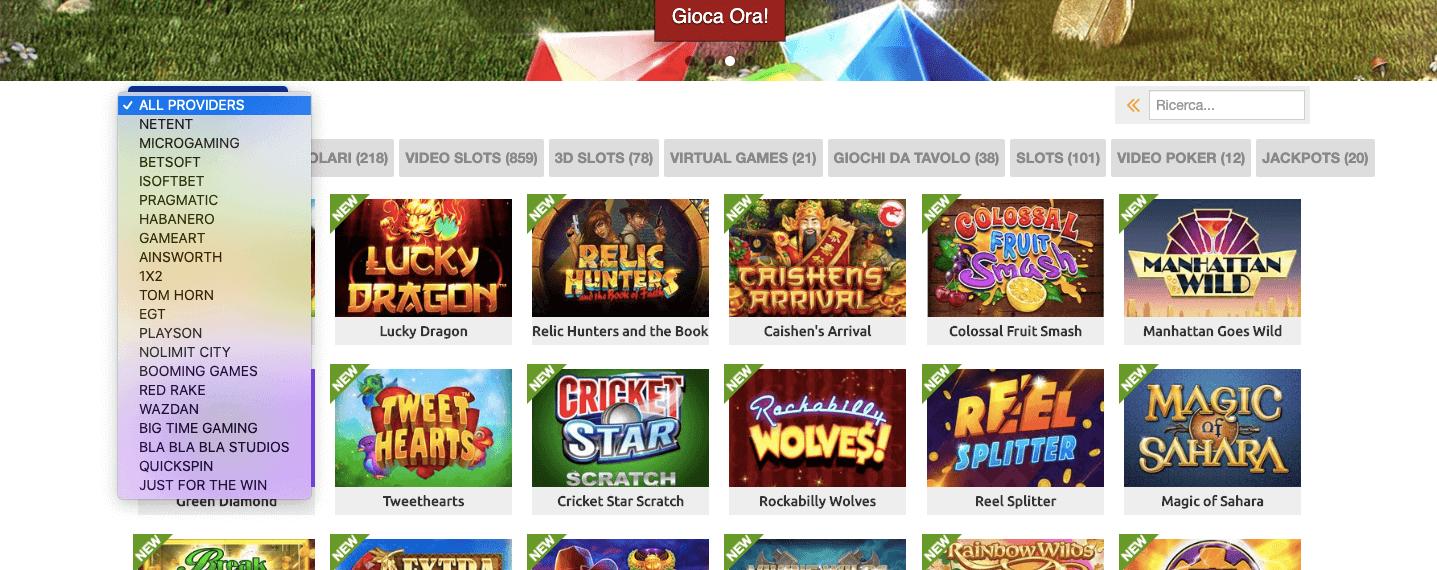 betrebels casino disponibili