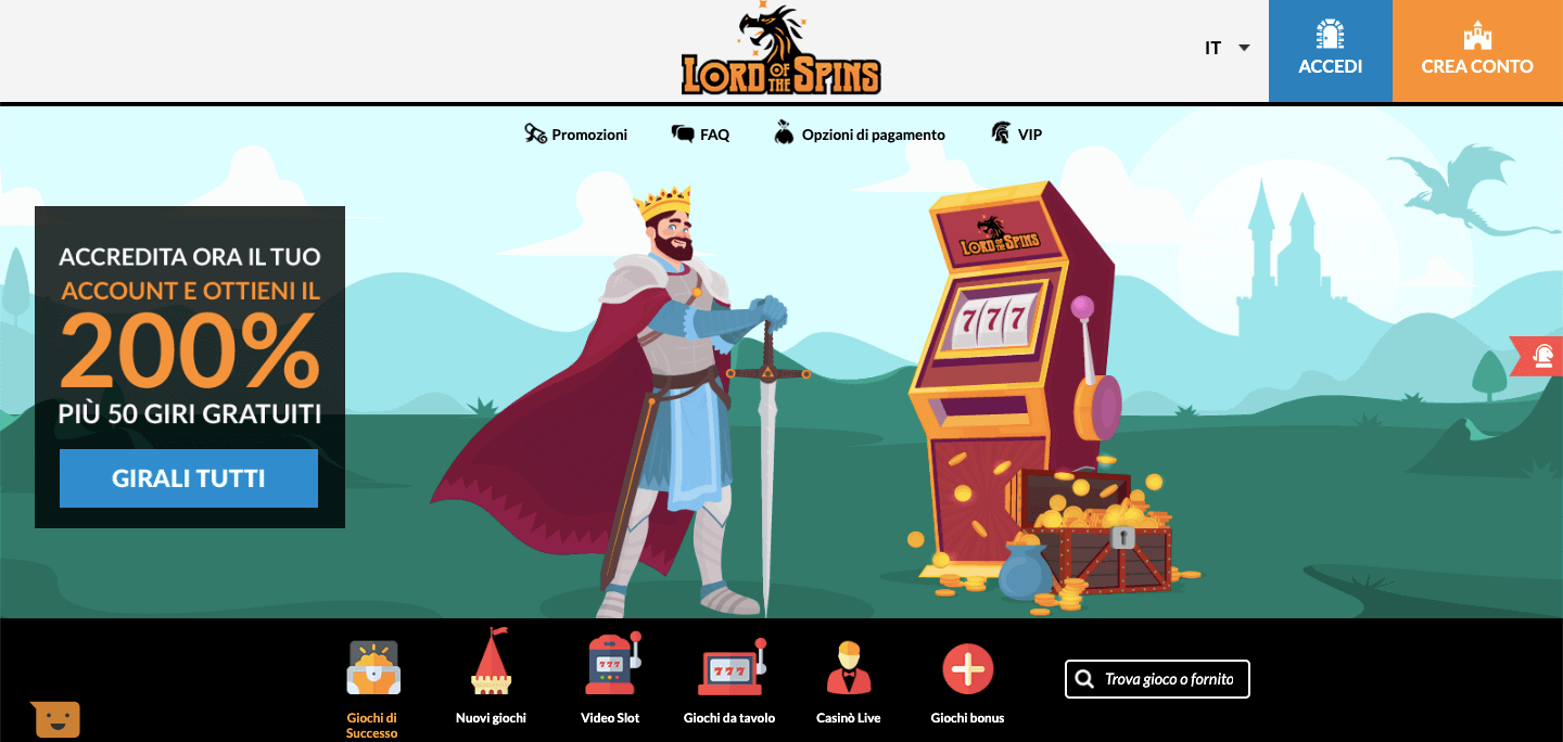 Lord of the Spins Casino Screenshot