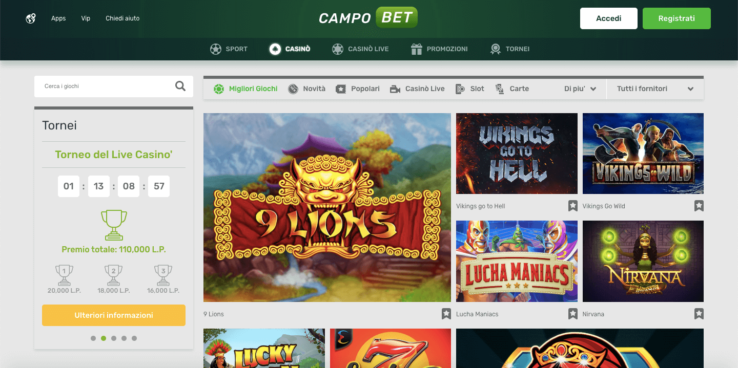 Campobet Casinò Screenshot
