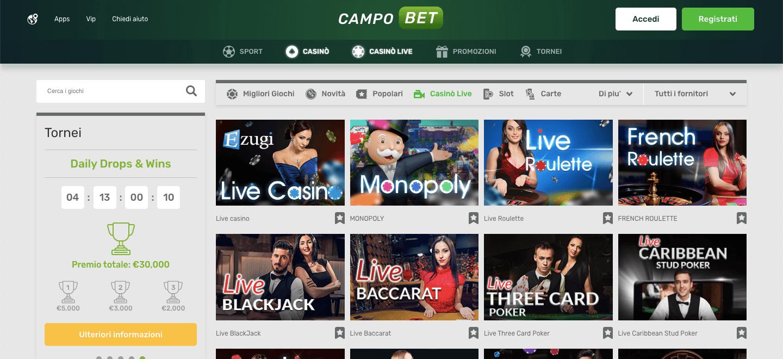 campobet casino live