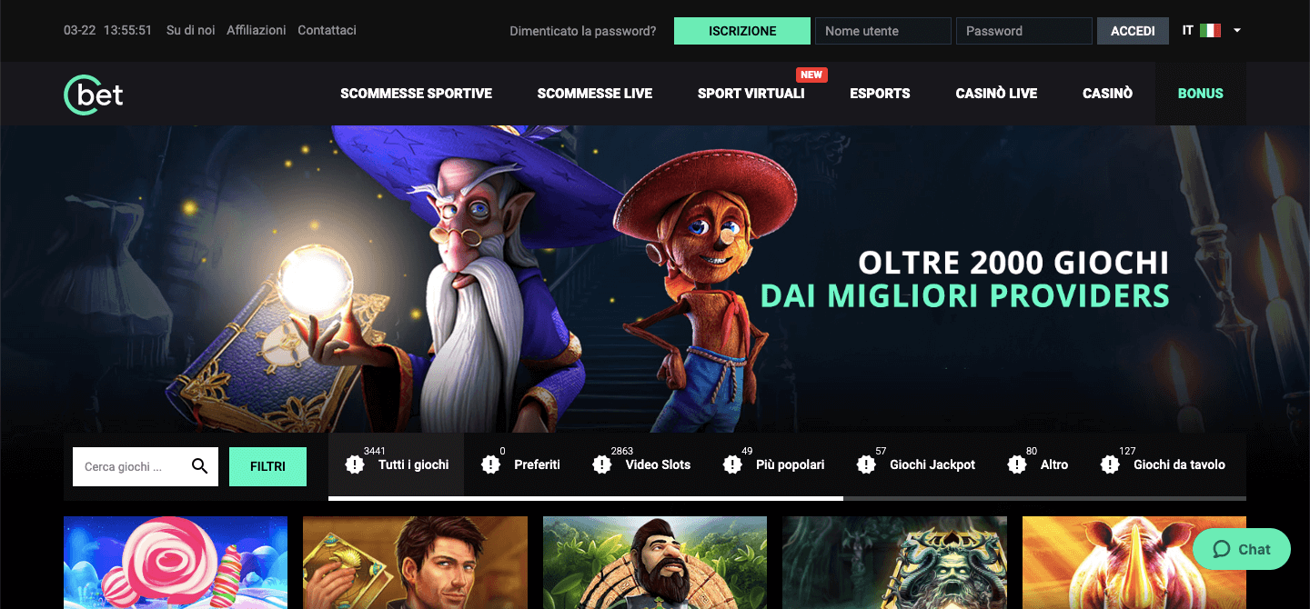 Cbet casinò Screenshot