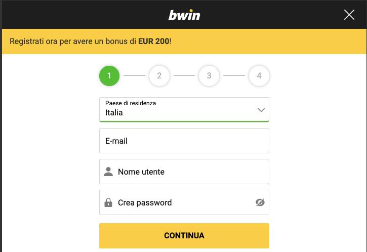 BwinCasinò registrati