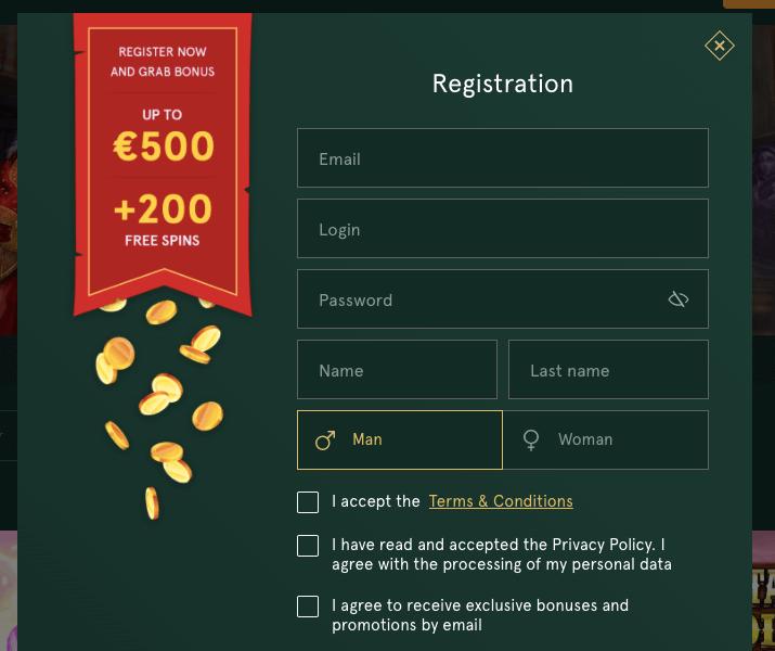 Casiniacasino registration