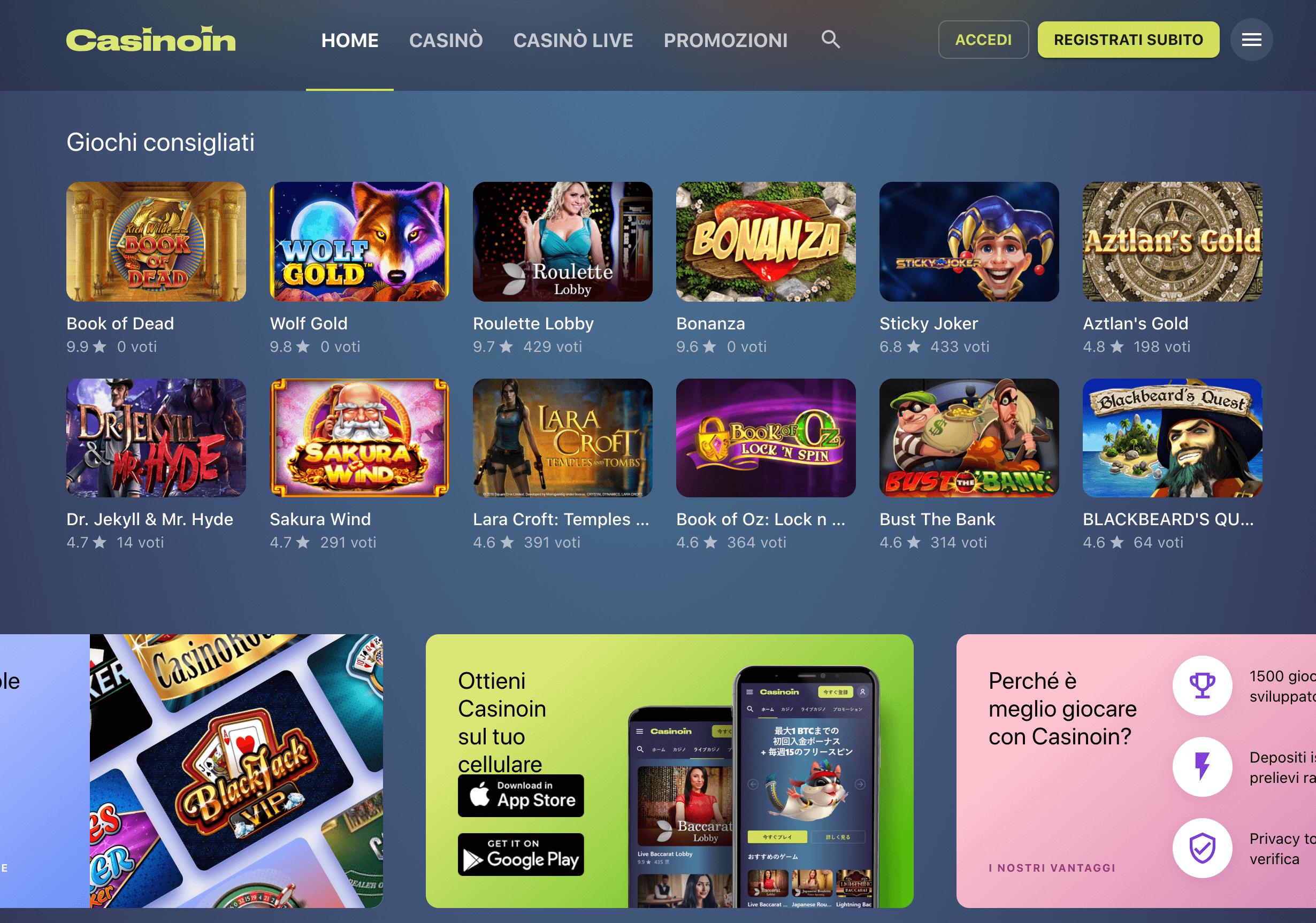 Casinoin Screenshot