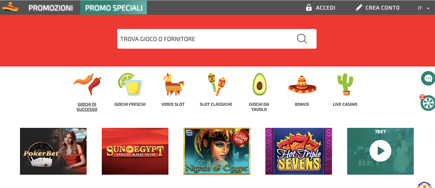 La Fiesta Casinò Screenshot