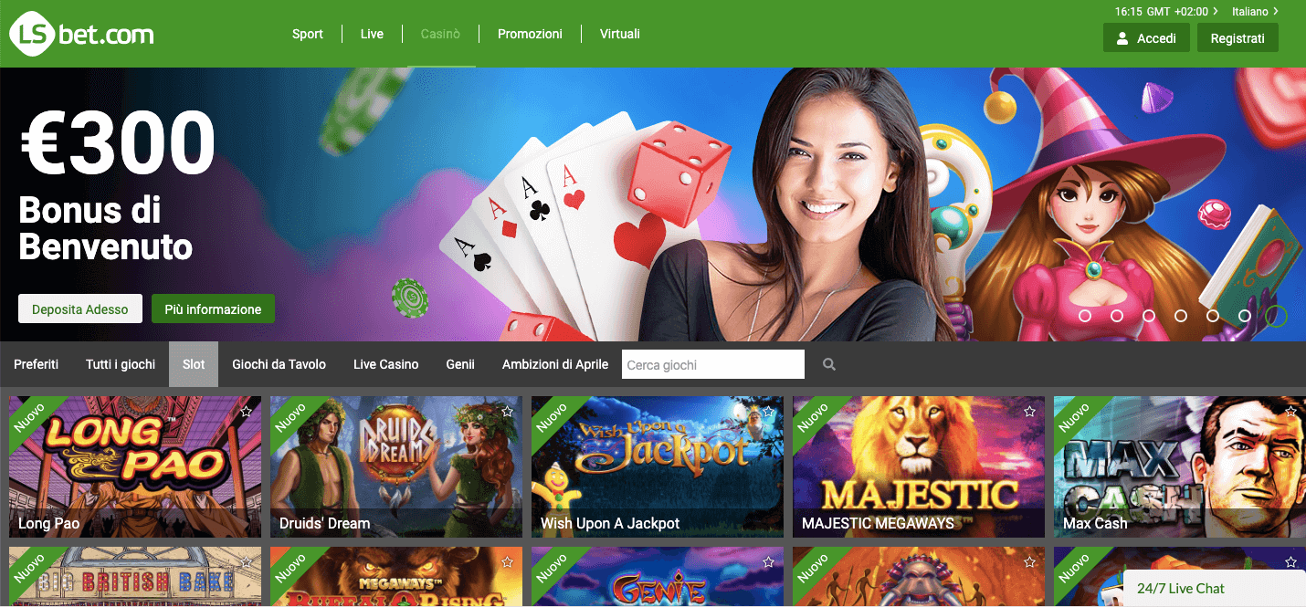 LsBet Casinò Screenshot