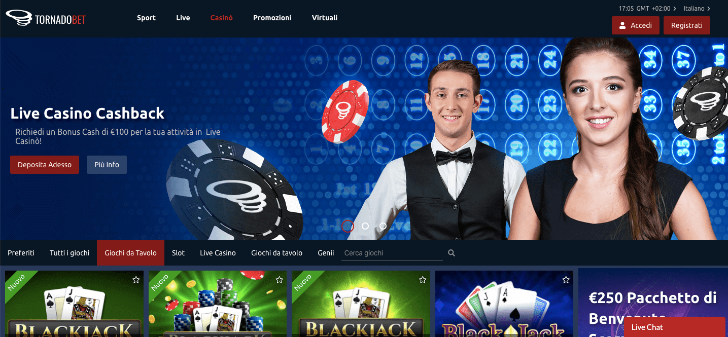 Tornadobet Casinò Screenshot