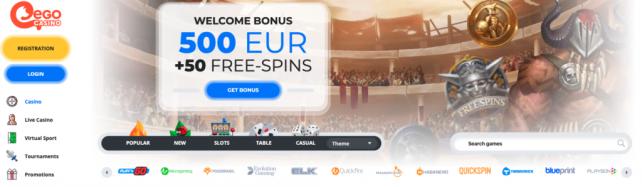 ego casino bonus