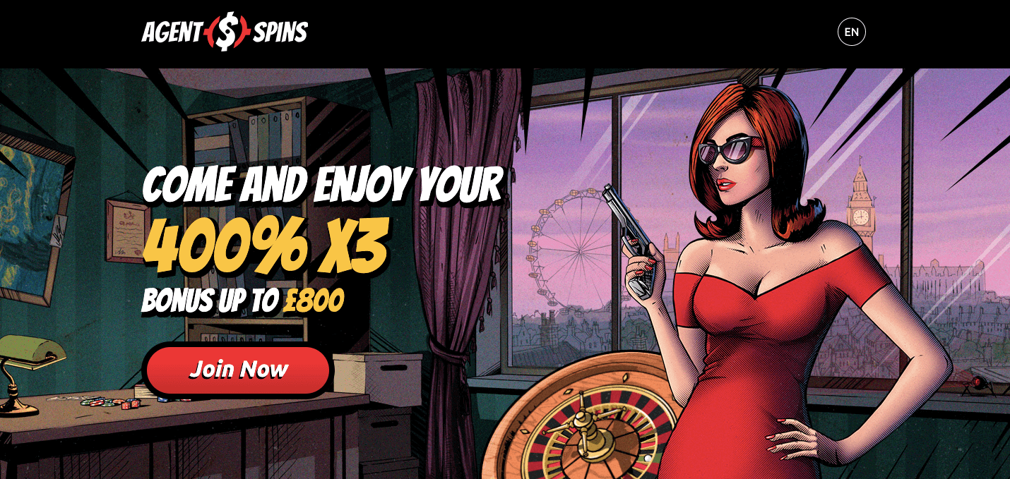 Agentspins Casinò homepage