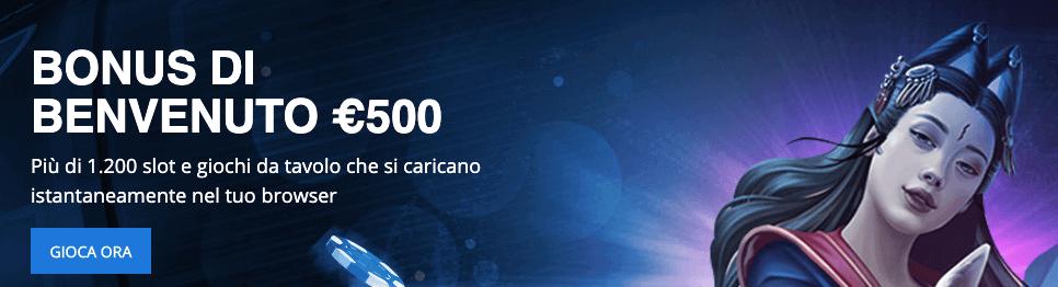 ExclusivebetCasinò welcome bonus