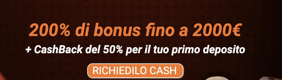 All Cashback Casinò welcome bonus