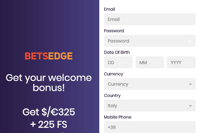 BetsEdge casino registrati