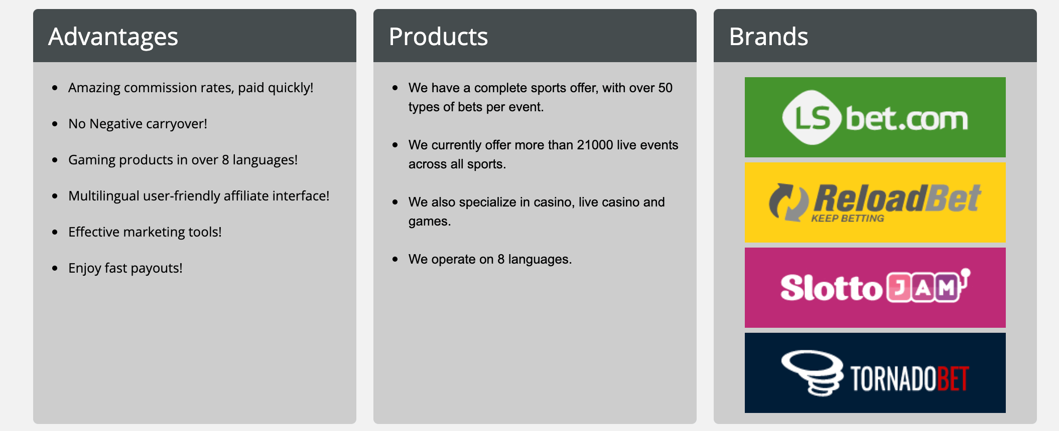 stakepartners prodotti