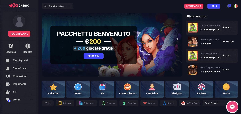 Woo Casino Screenshot