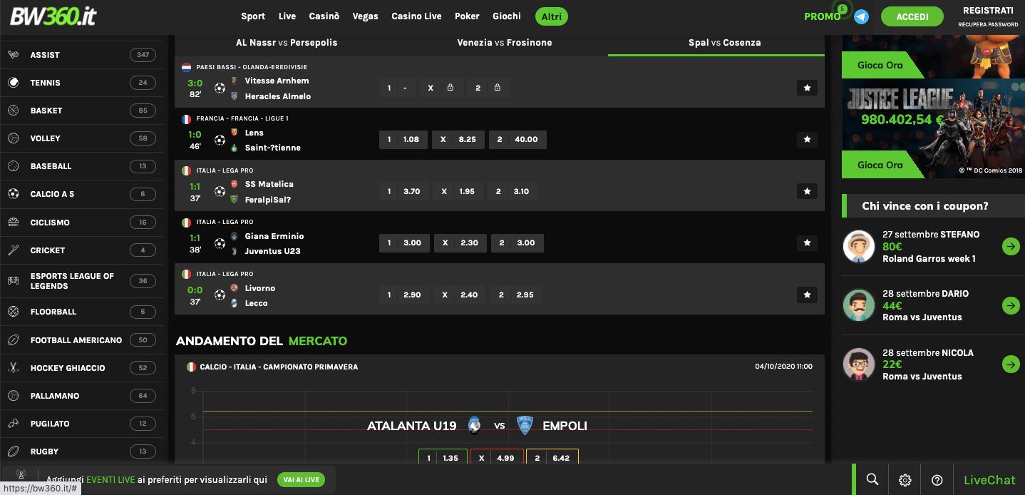 Betwin360 betting