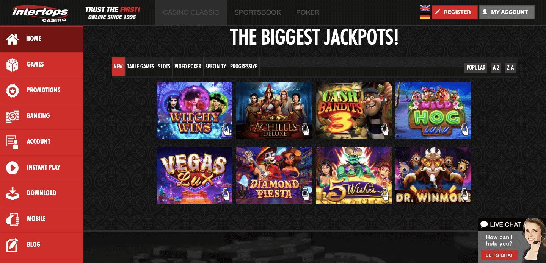 Intertops Casino Slot