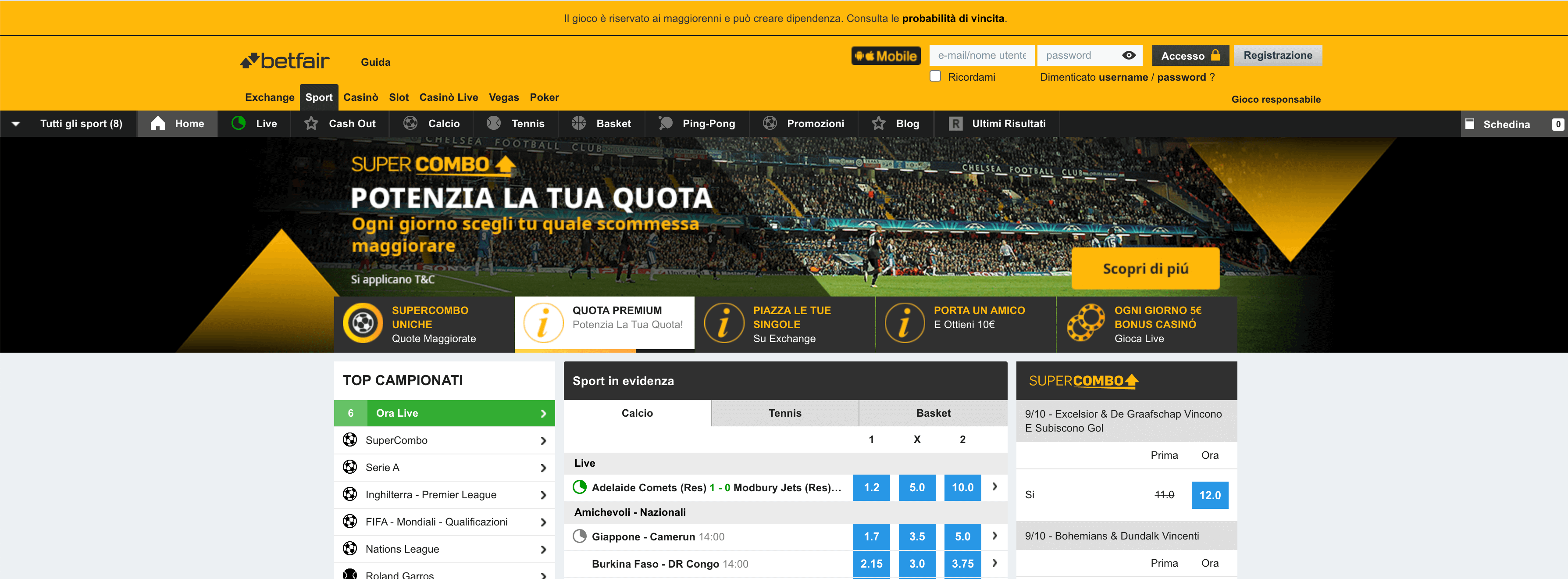 betfair calcio