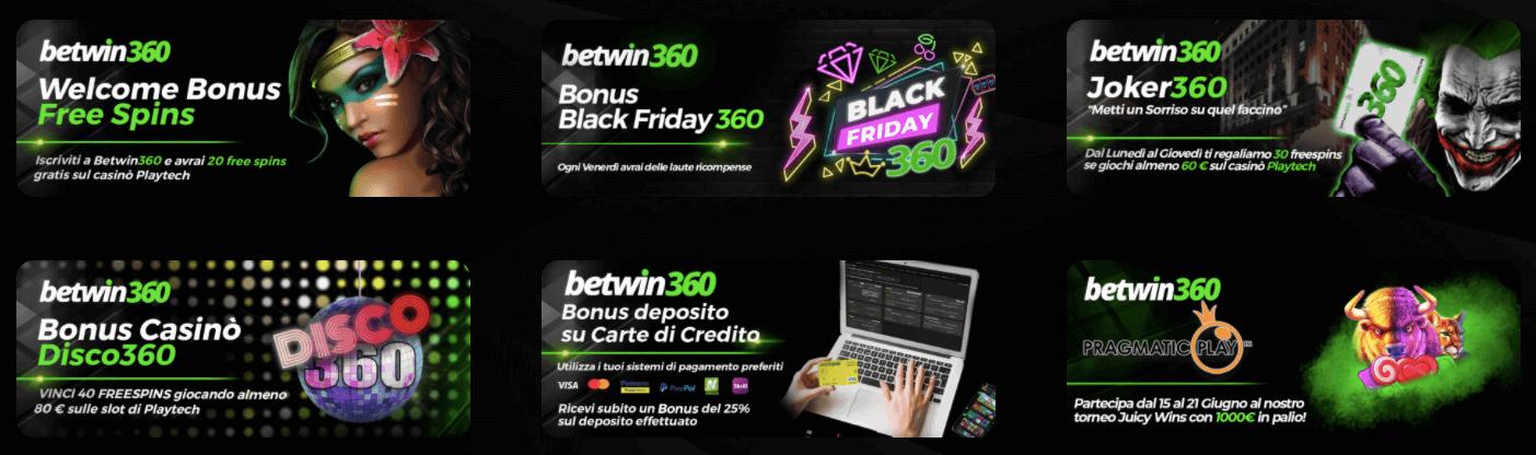 betwin360 welcome bonus