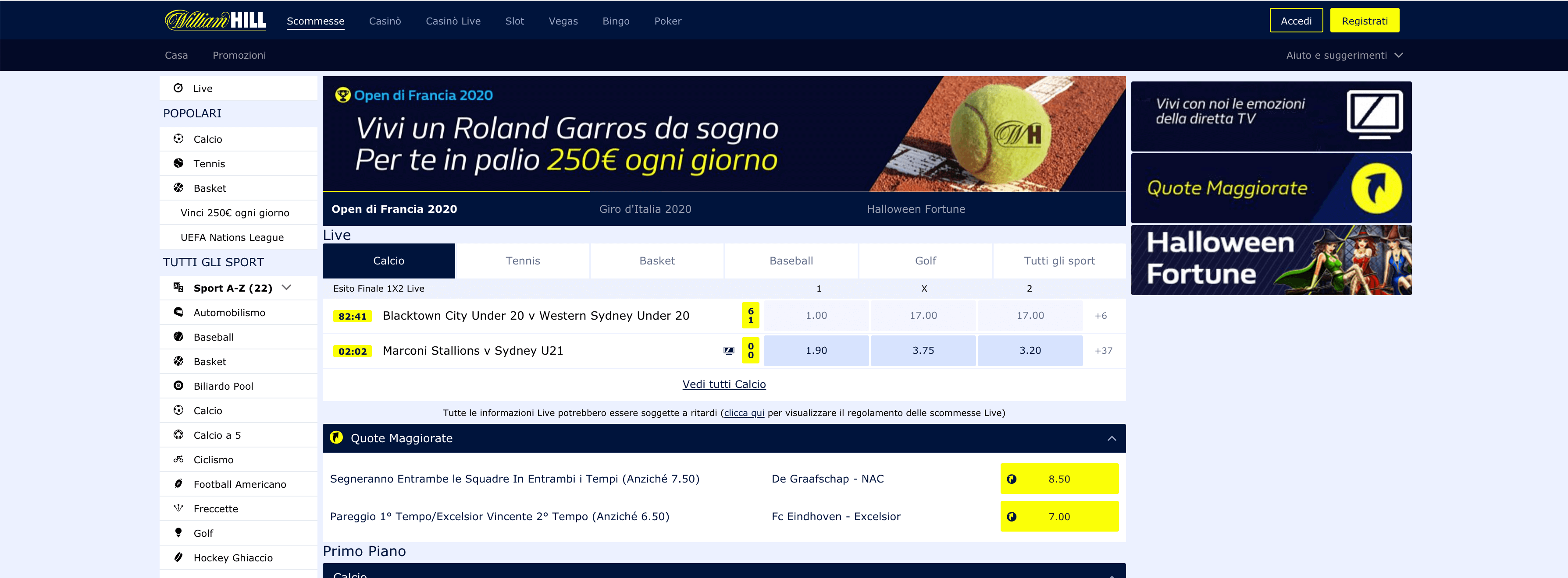 william hill calcio