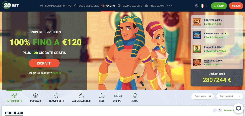 20Bet Casino Screenshot