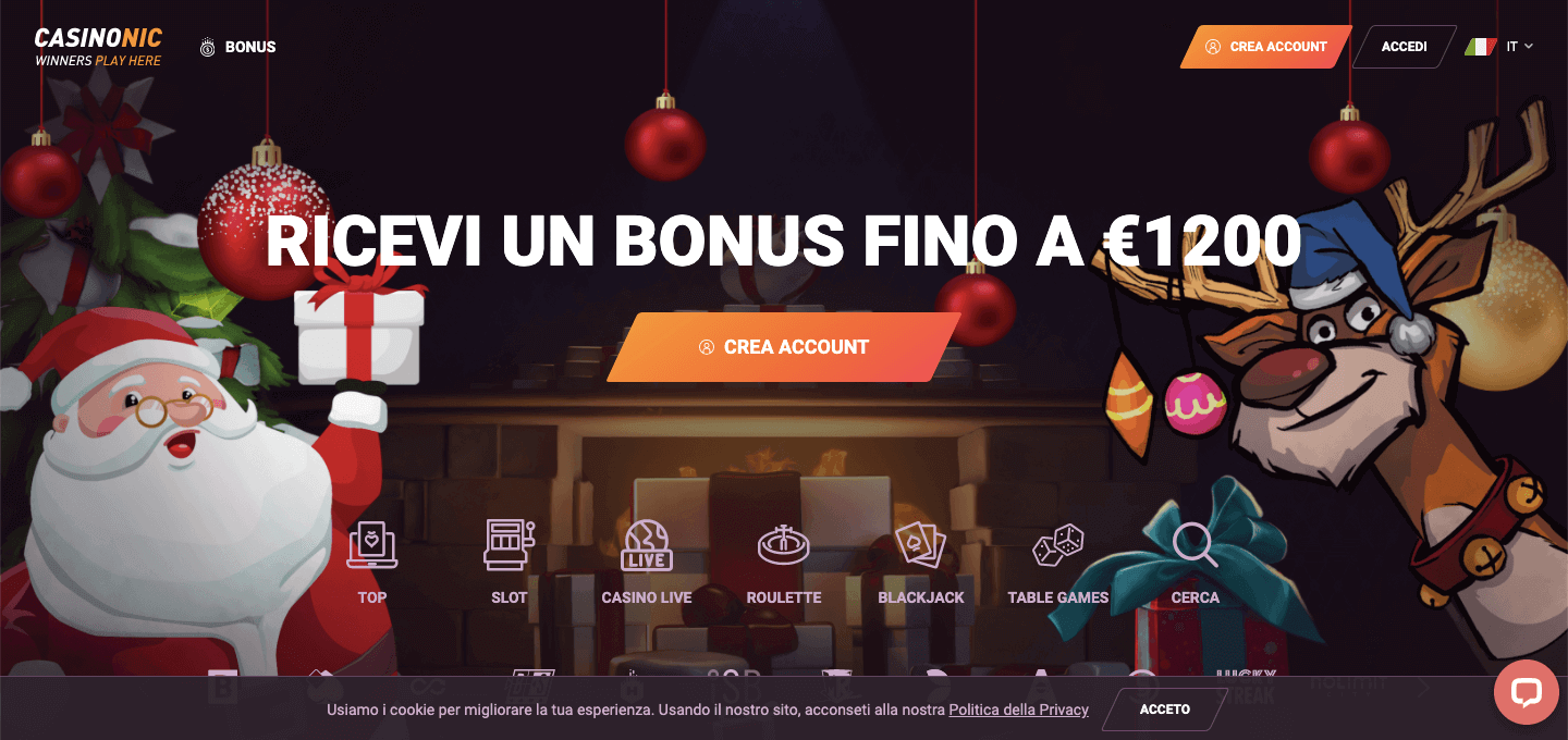 Casinonic Casinò homepage