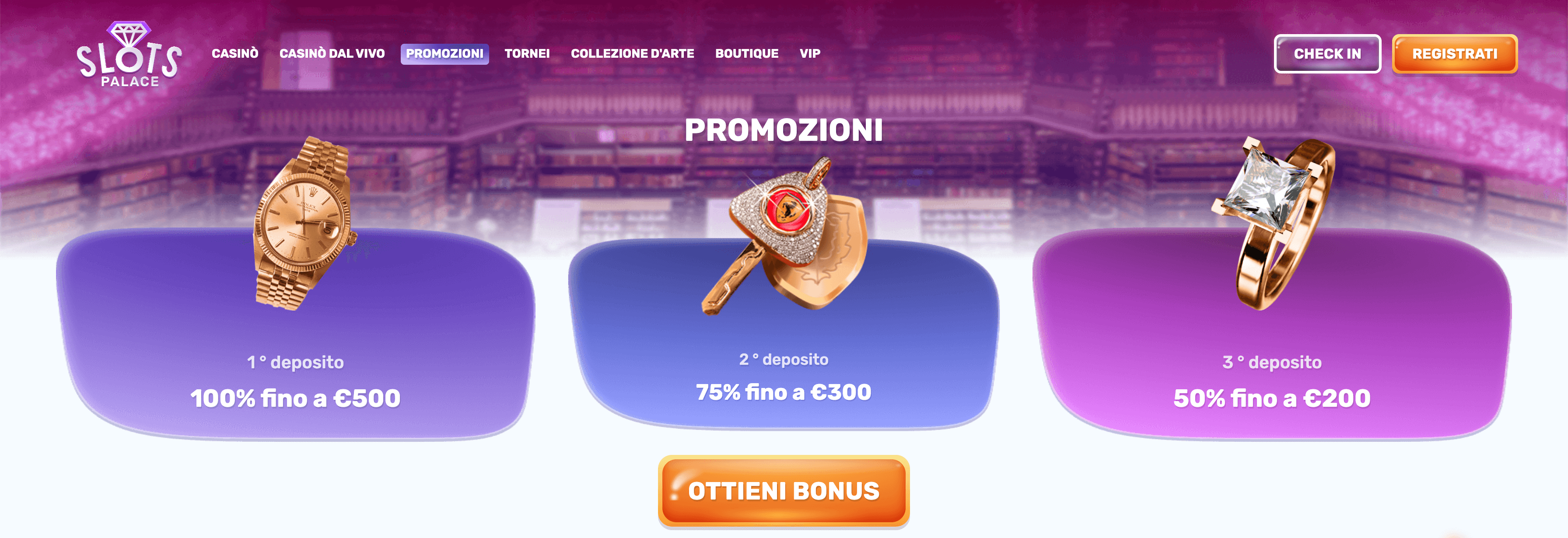 SlotsPalace casino bonus benvenuto