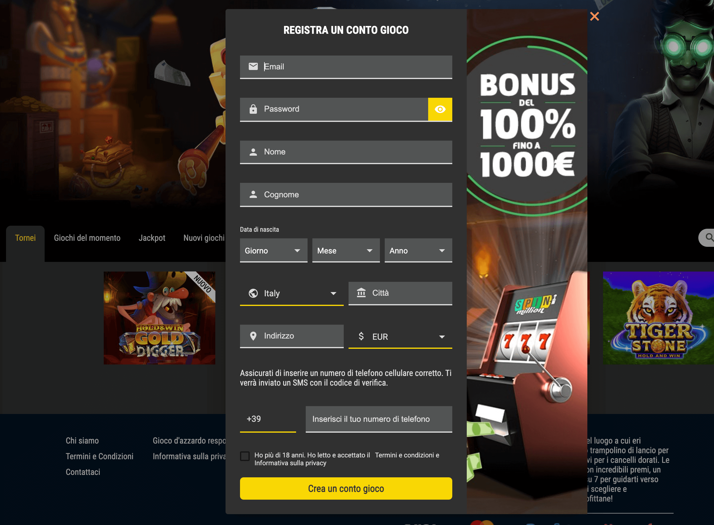 spin million casino registrazione