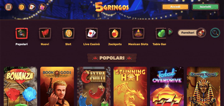 5Gringos Casino Screenshot