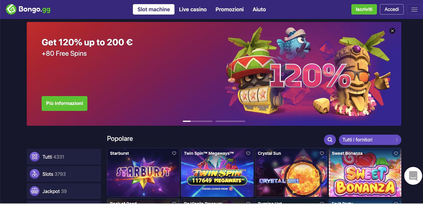 Bongo Casino Screenshot