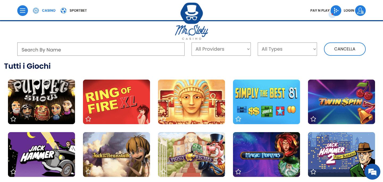 Mr Sloty Casino Screenshot