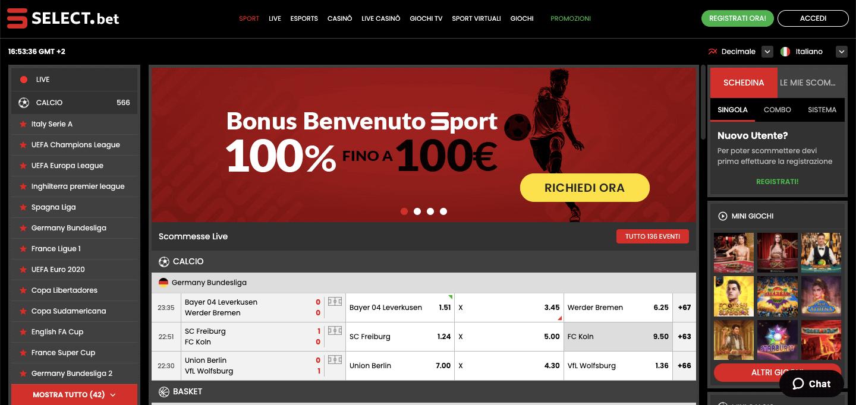 Select.bet Screenshot