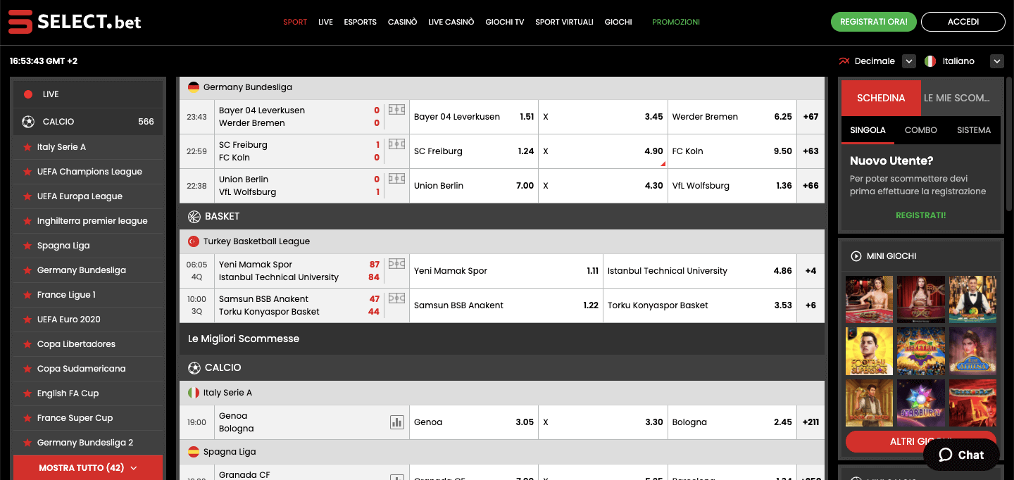 Select.bet Scommesse