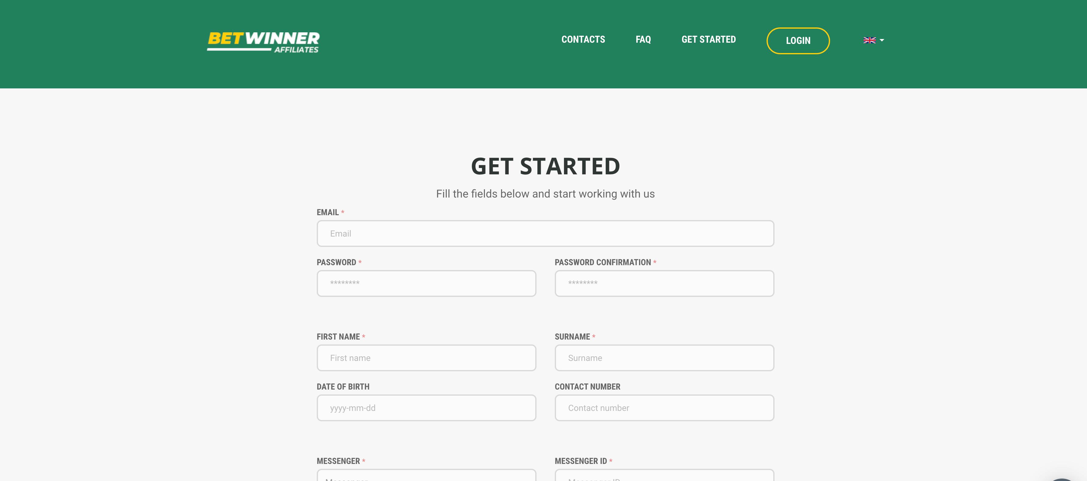 betwinner affiliates registrazione