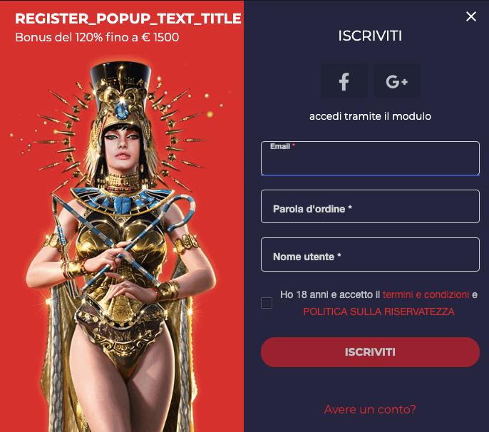 Casobet Casino Registrazione