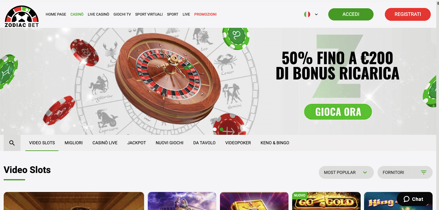 ZodiacBet Casino Screenshot