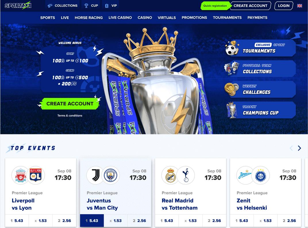 Sportaza Screenshot