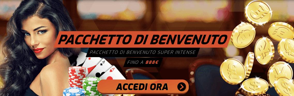 Casino Intense Bonus Benvenuto