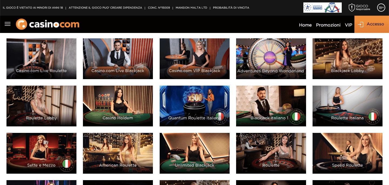 Casino.com Slot Live