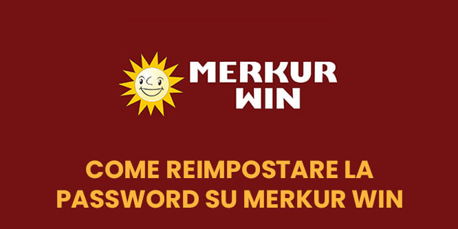 Come reimpostare la password dell'account Merkur Win