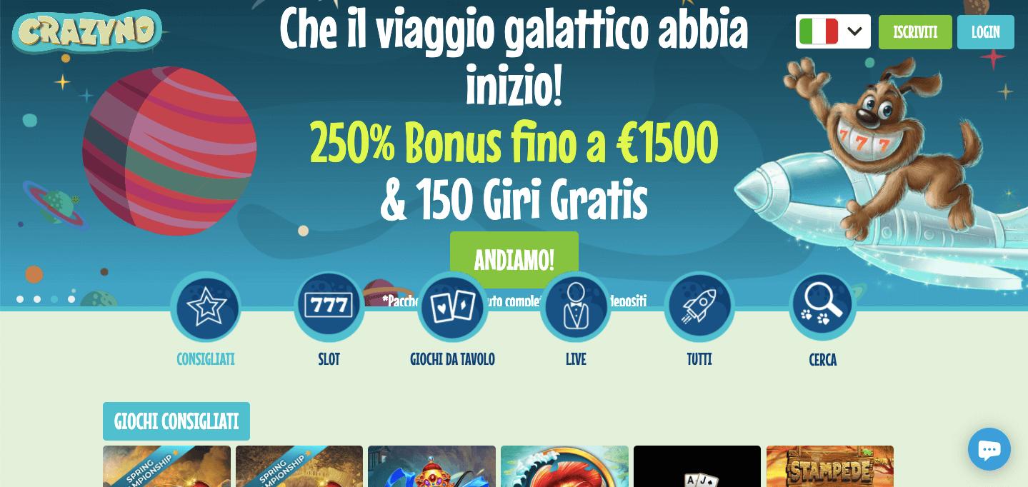 Crazyno Casino Screenshot