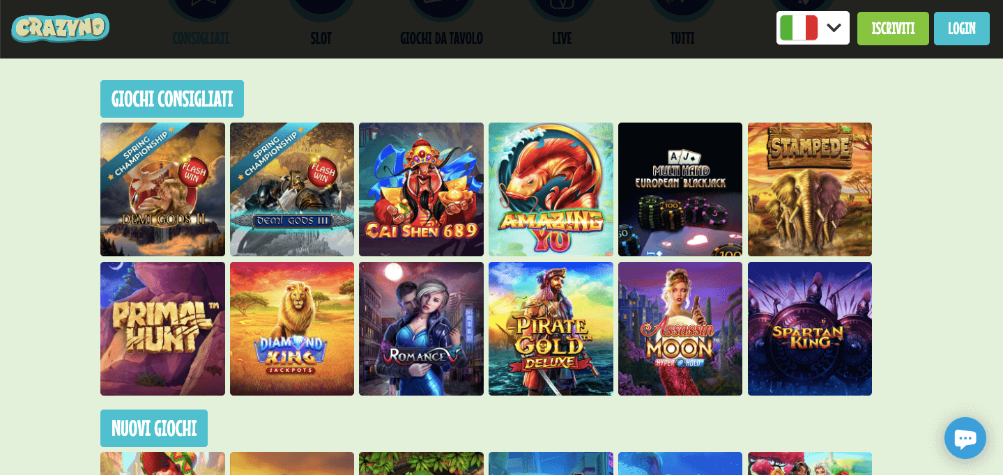 Crazyno Casino Slot
